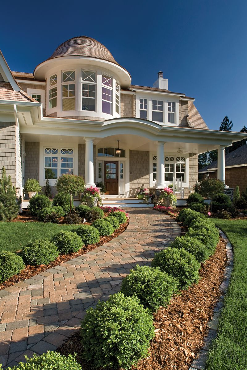 Luxury House Plan Front Photo 04 013S 0014