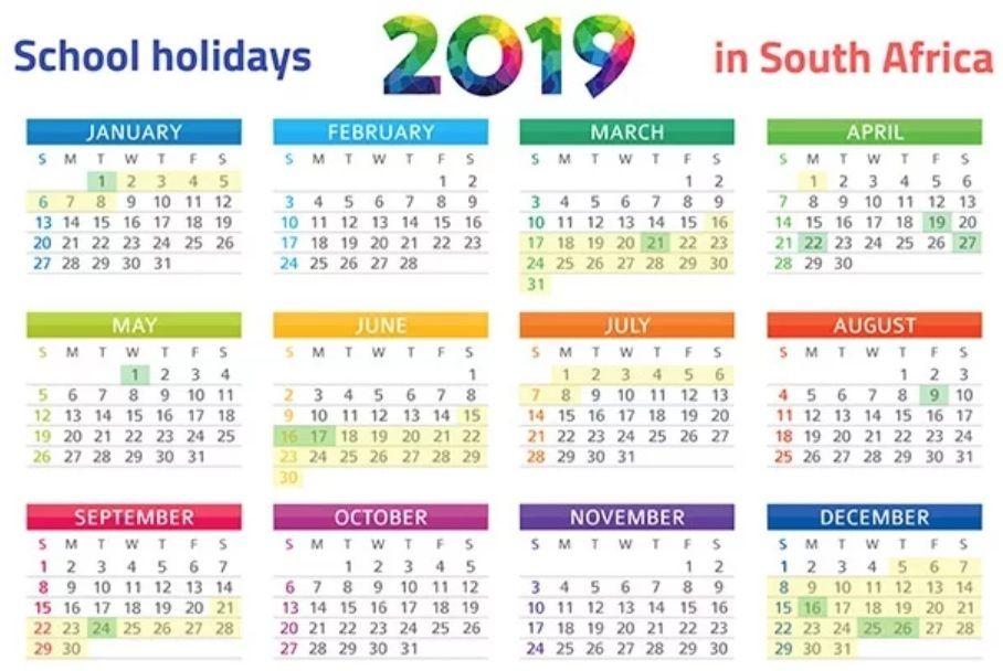 Free Printable 2020 Calendar With Holidays South Africa.South Africa 2019 School Holidays Calendar Southafrica Calendar