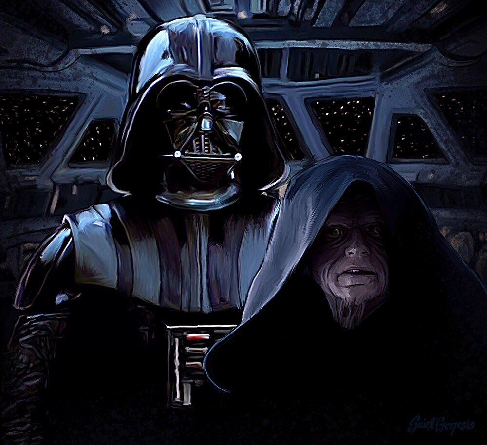 Darth Vader And Emperor Palpatine Star Wars Images Vader Star Wars Star Wars Fan Art