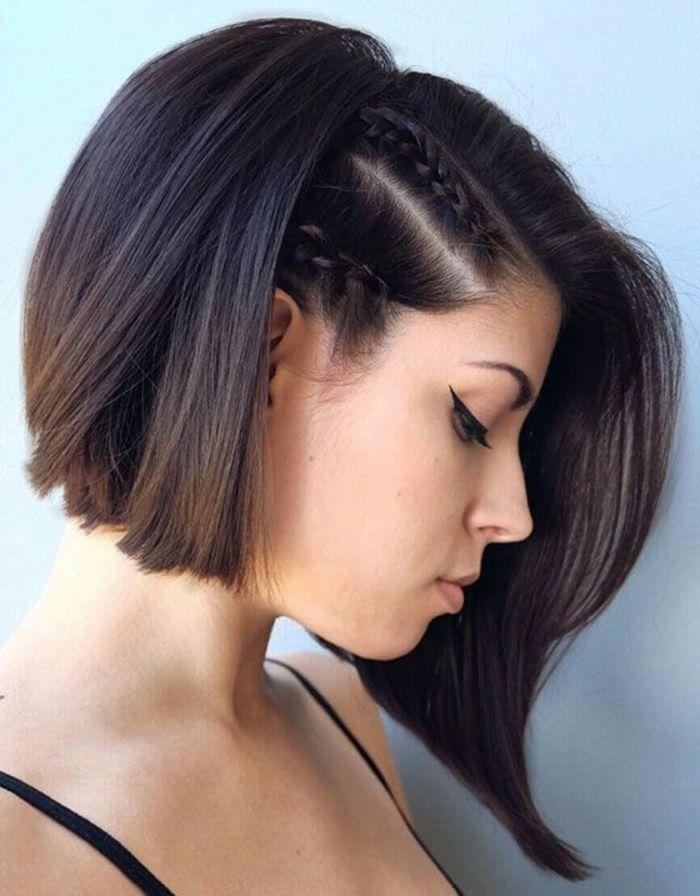 Recogidos de lado cabello corto