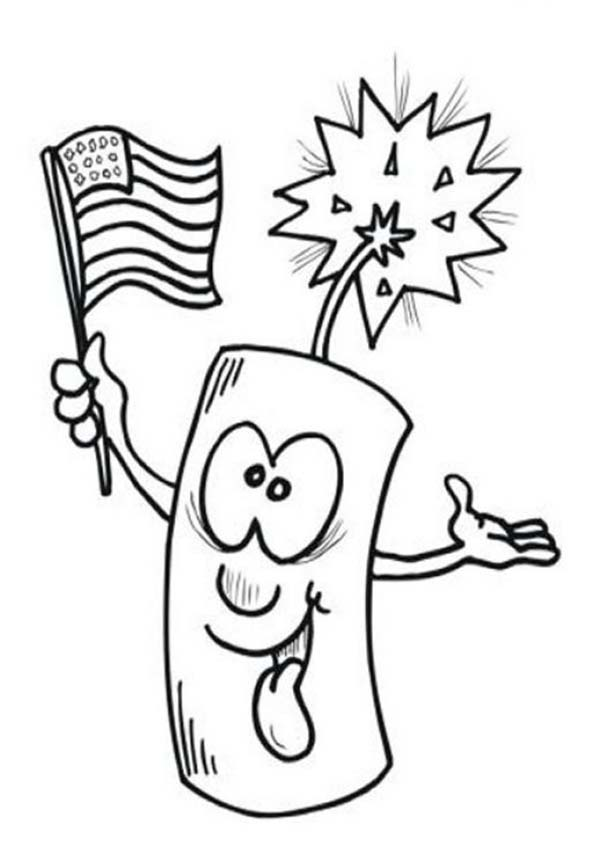 Ligh Firecracker On 4th July Independence Day Coloring Page Best Place To Color In 2020 Valentines Day Coloring Page Coloring Pages Easter Coloring Pages