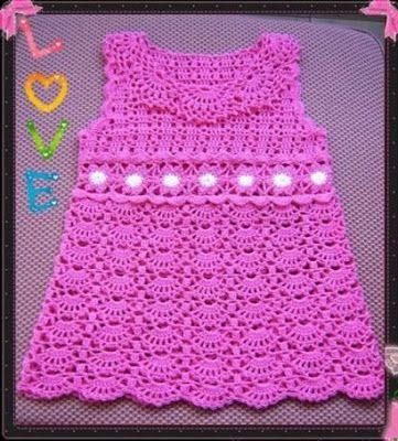 How to crochet : Crochet Patterns  for free  crochet baby dress  19 ...