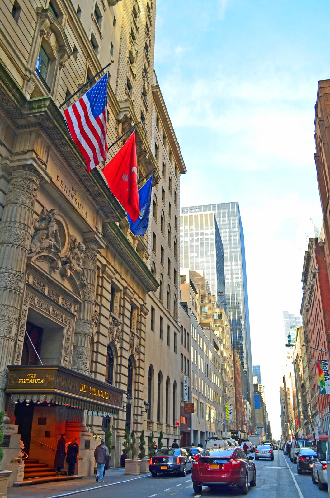 very sunny day in new york city today early morning on wall street today id=15730