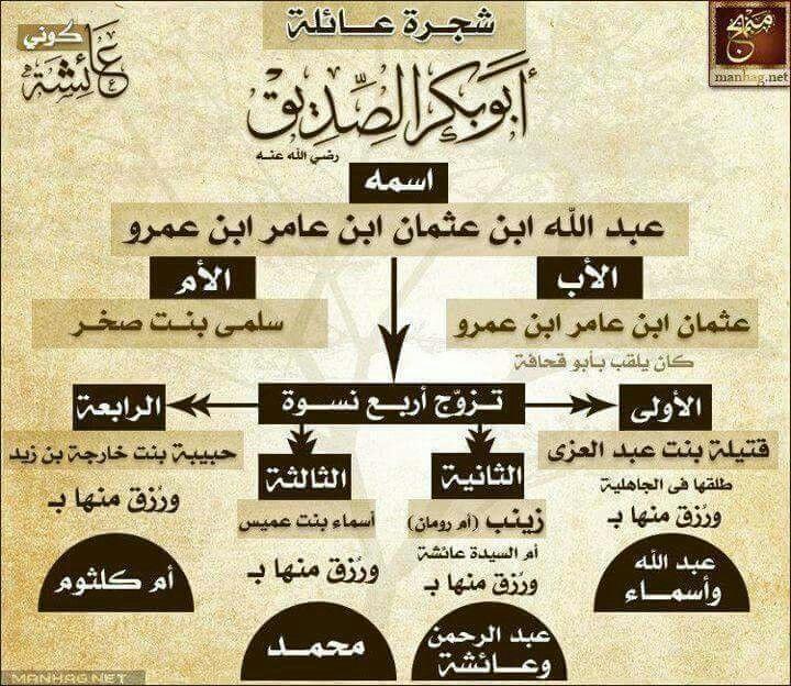 شجلة العائلةلـ أبو بكر الصديق رضي عنه تعالى Islam Facts Learn Islam Islam Beliefs