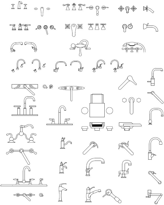 Faucets Jpg 688 215 859 Drawing Pinterest Autocad Architecture And Interiors