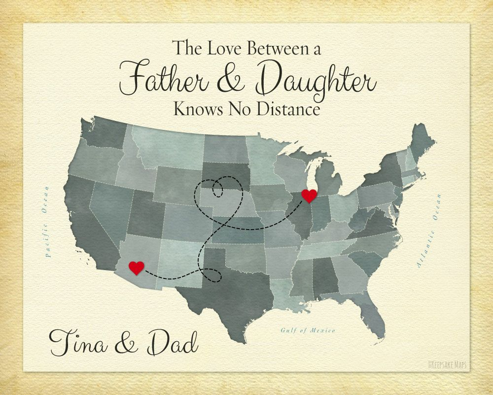 The Love Between A Father And Daughter Knows No Distance Gift Print