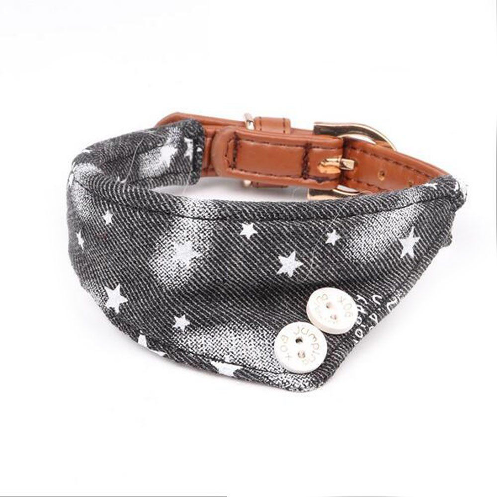 Black Extra Small Dog and Cat Collar, Adjustable 5 Holes