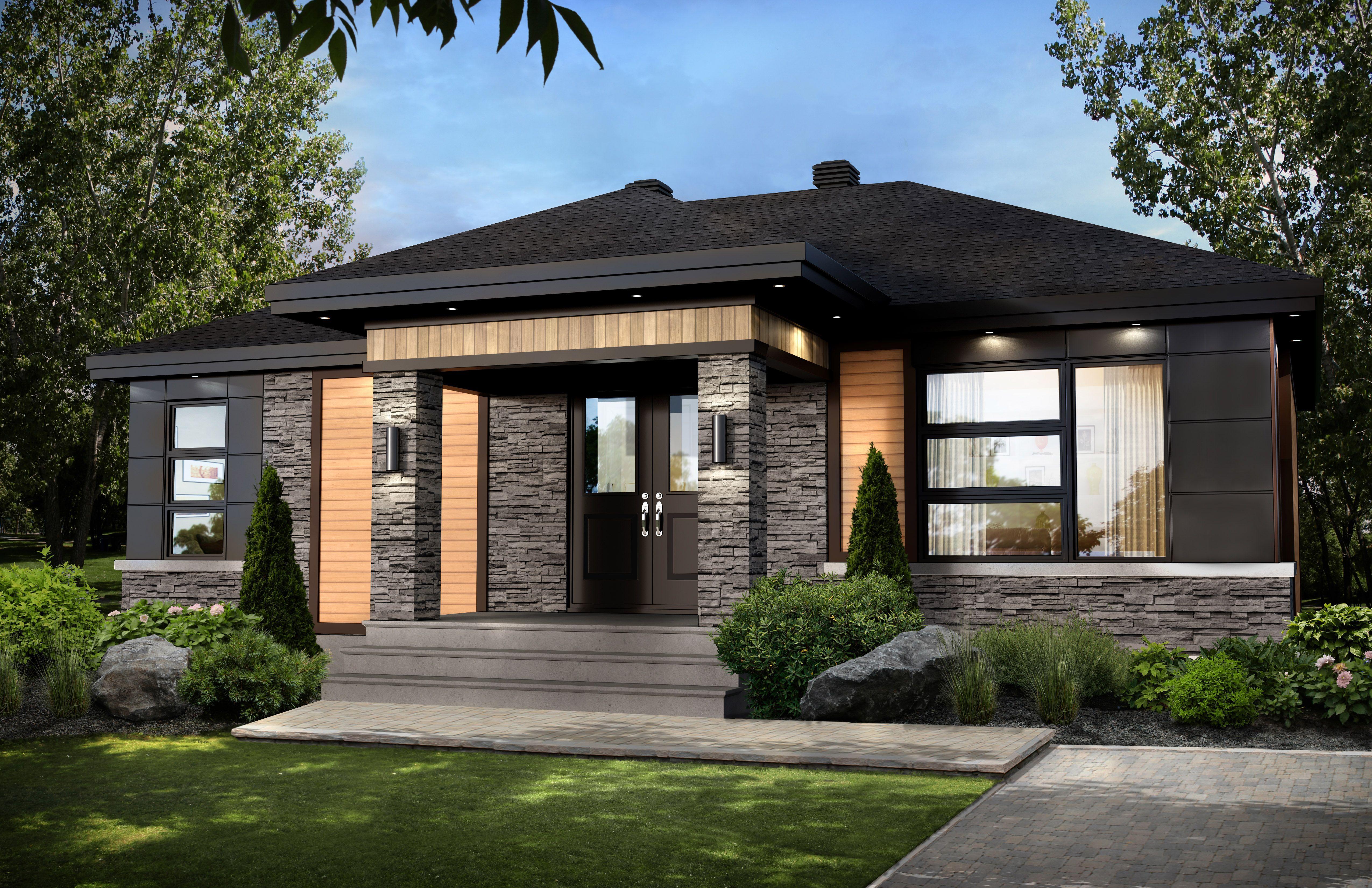Notre modèle brockton offre une grande fenestration et une luminosité des plus abondante jolie maison dinspiration contemporaine elle est très