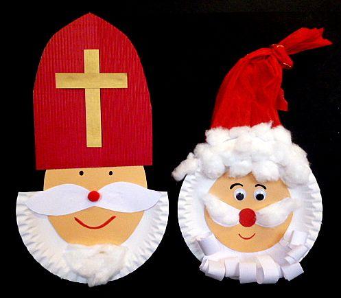 Nikolaus und Bischof aus Milchkarton und Pappteller – Weihnachtsbasteln – Mein …   – kita