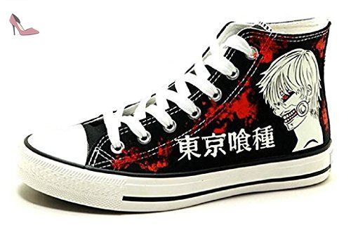 Bromeo Tokyo Ghoul Unisex Canvas Hi-Top Sneaker Trainers Shoes Luminous
