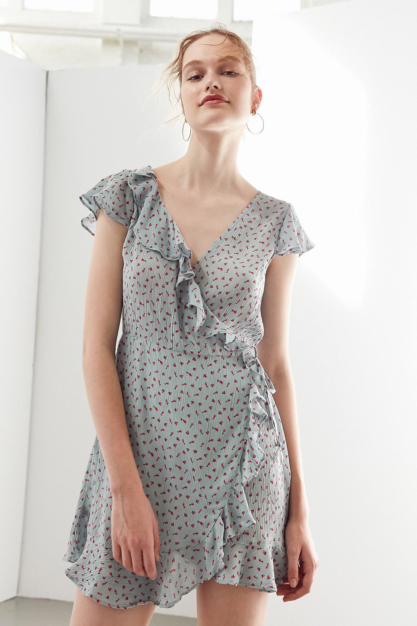 Pins And Needles Clothing Awesome Pins And Needles Ruffle Wrap Dress  Wrap Dresses Ruffles And Decorating Design