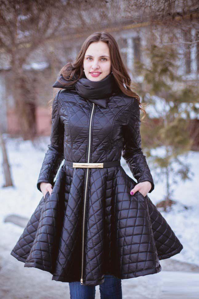 Женское стеганое пальто 2017 (100 фото): стильные фасоны ...