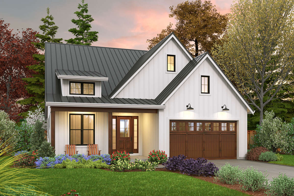 34++ Narrow lot modern farmhouse plans model