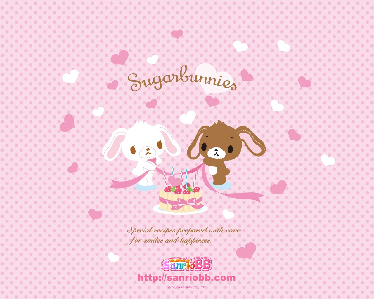 Sugar Bunnies Wallpaper Wallpapersafari Sanrio Wallpaper