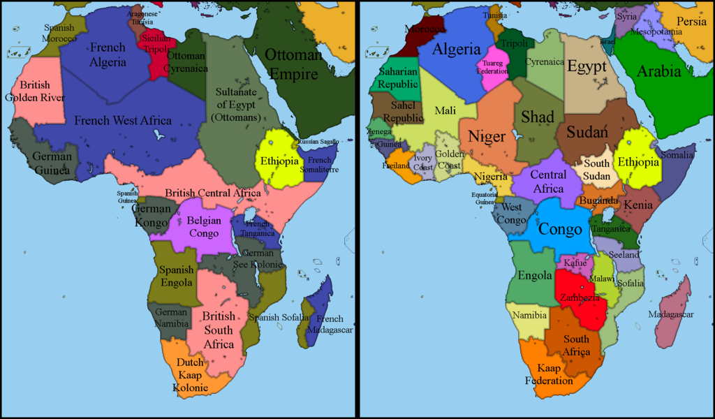 Alternate Africa Map Alternate Africa 1900   2017 by EntrerrianoMaps | Africa map