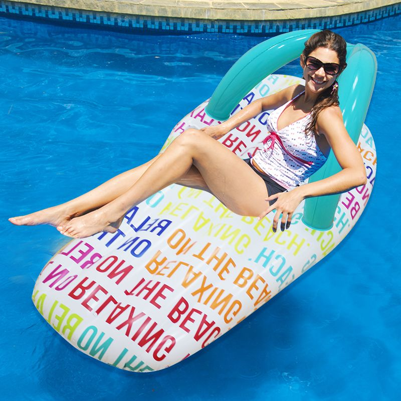 Good 150*75cm Inflatable Toys Colorful Alphabet Slipper Pool Float Summer  Holiday Ride On Air