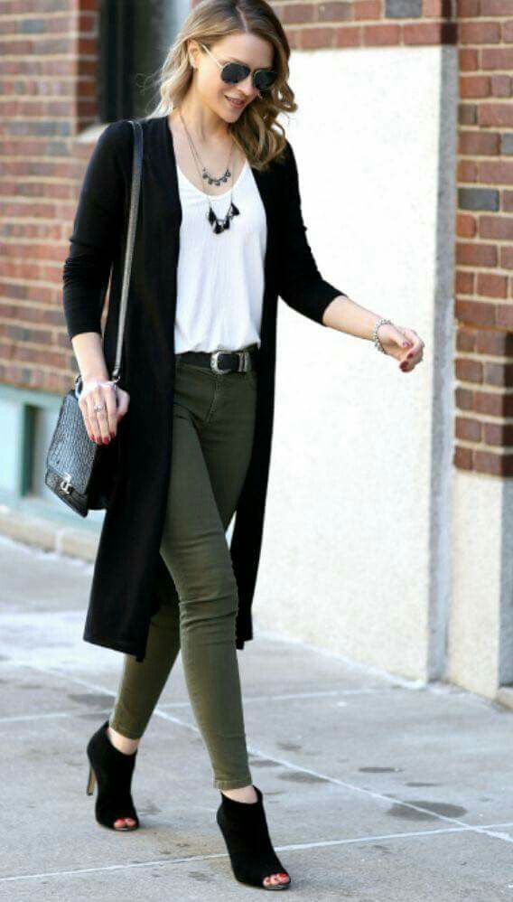 Olive green pants | Work outfits women, Olive pants outfit
