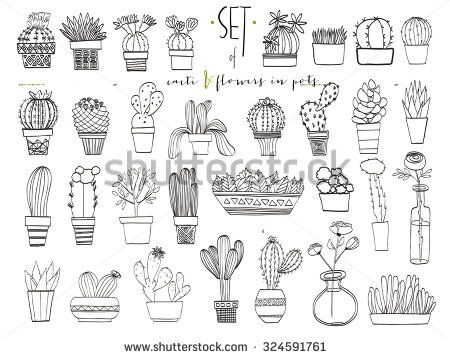 Paper Garland People Tattoo Plant Tattoo Cactus Tattoo Minimalist Drawing