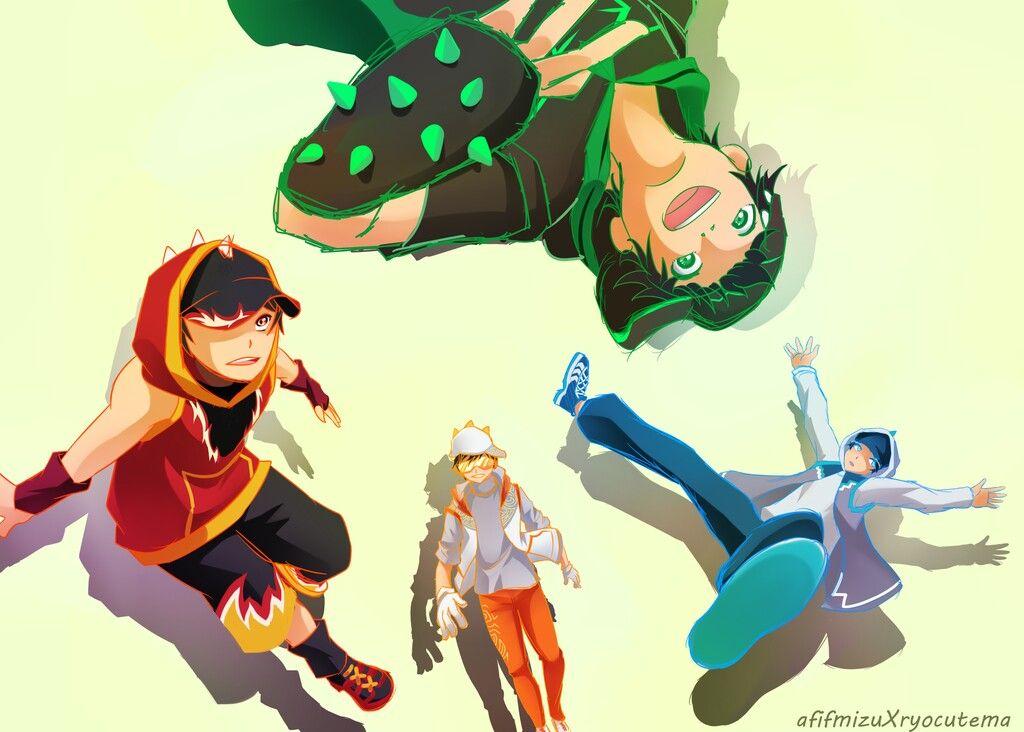 Boboiboy And Friends Animasi Kartun Gambar Kartun
