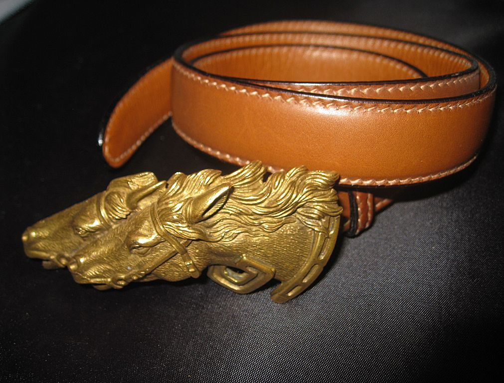 82fd4cdc7 Gucci Vintage Belt with Double Horse Head Buckle | Equestrian ...
