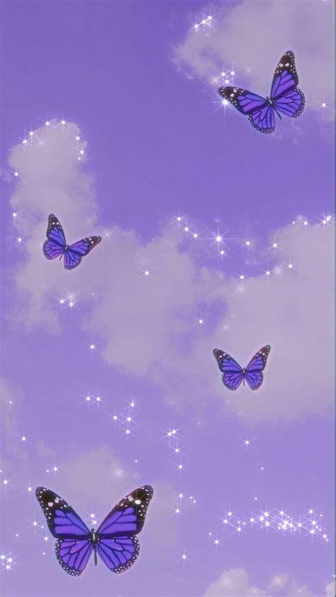 Wallpaper Asthetic | Purple Butterfly Wallpaper, Butterfly