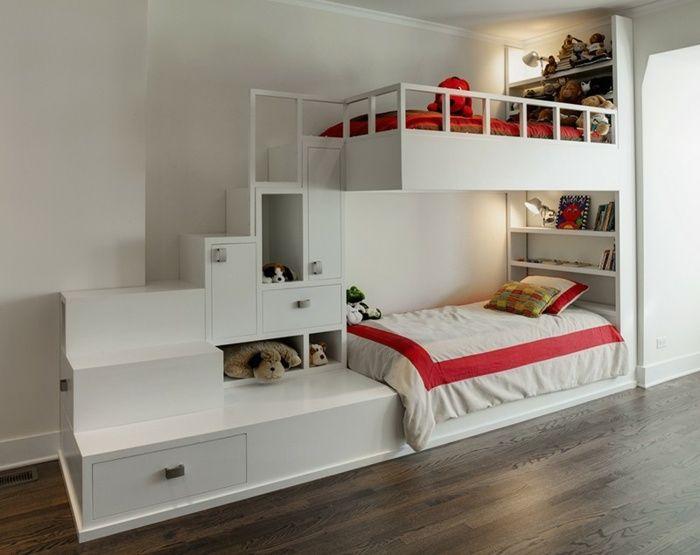Kinderzimmermöbel Ideen mit platzsparenden Hochbetten Kinder - hochbett fur schlafzimmer kinderzimmer