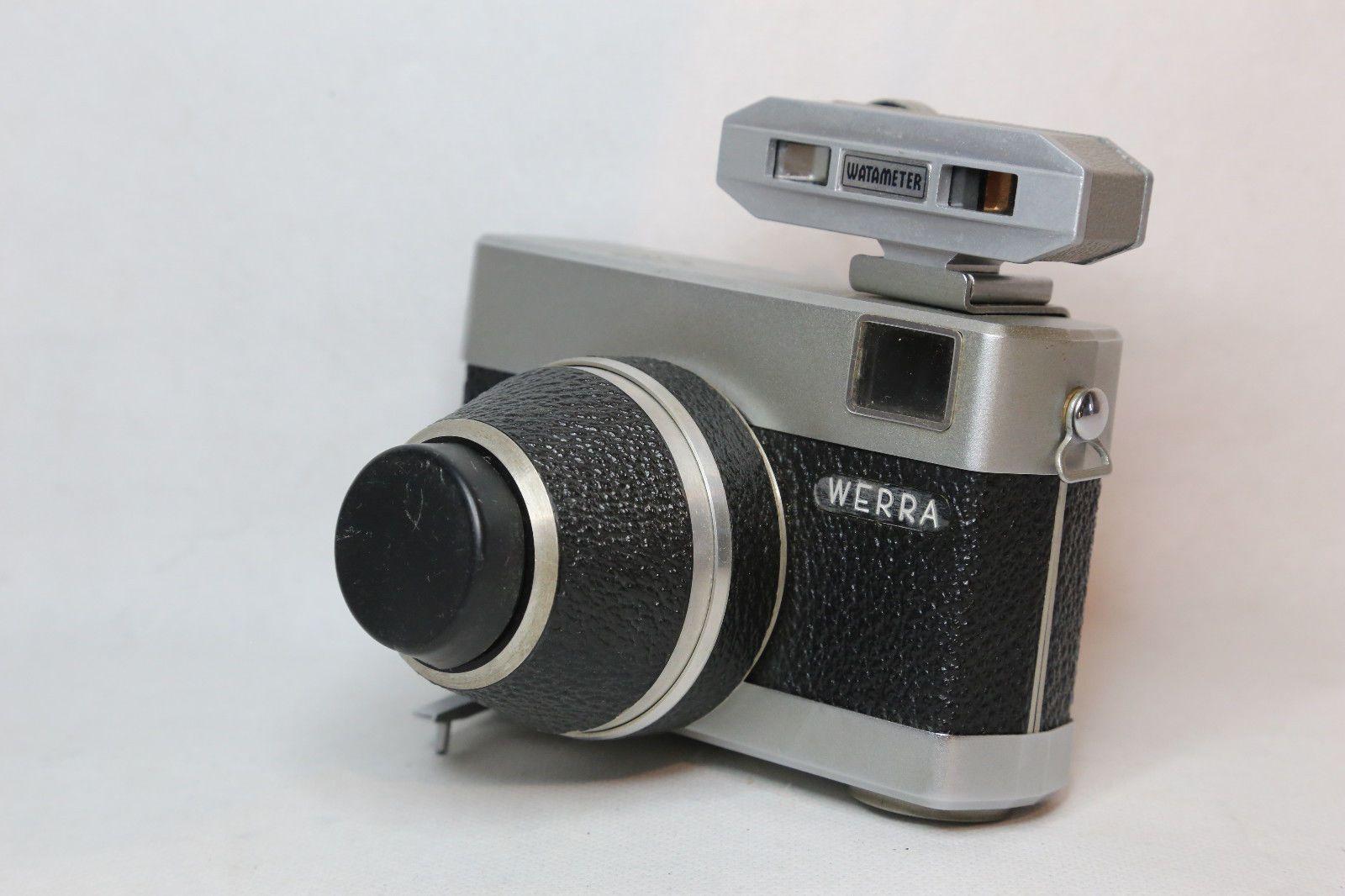 Vintage Carl Zeiss Werra 35mm Black Camera With Green Watameter C1950 Ebay Vintage Cameras Classic Camera Camera