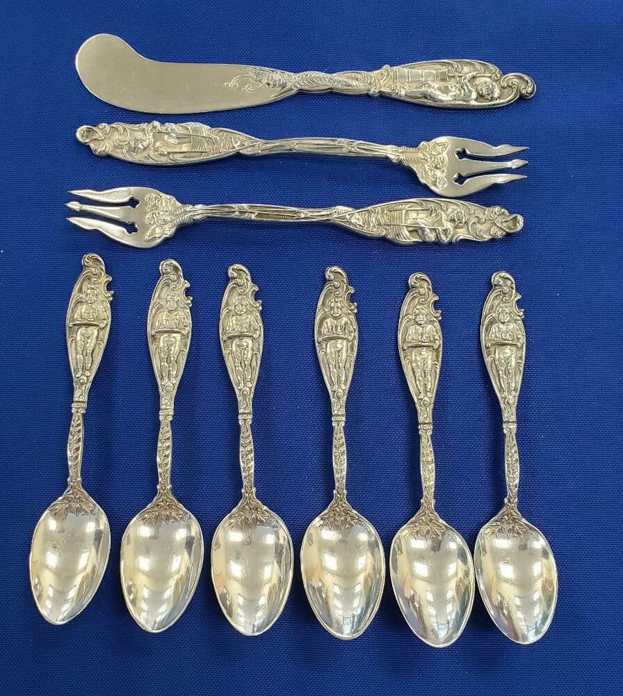 Labors of Cupid by Dominick and Haff Sterling Silver Teaspoon 6