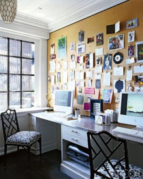 Home Office Full Wall Cork Board Pin House