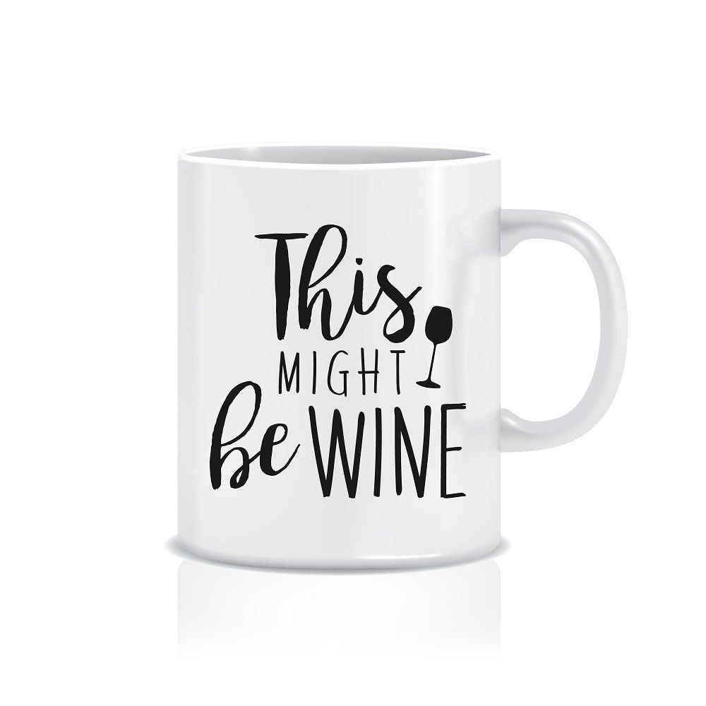 Amazon.com: Funny Coffee Mugs for Mom & Dad, 11 oz. 'This Might be Wine' Funny Mug for Friends, White Novelty Coffee Mug with Quote & Sayings, Cute Mugs for Women, Funny Mugs for Coworkers, Cute Mug for Your Boss: Home & Kitchen