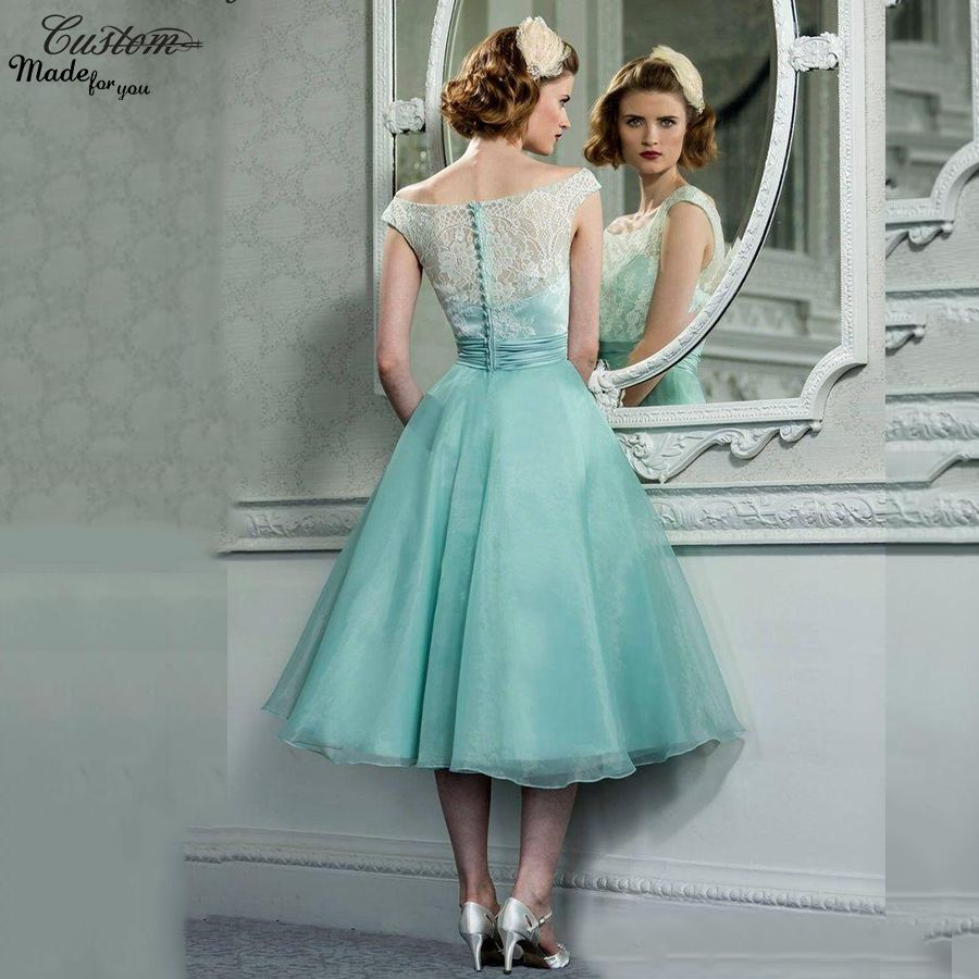 Vintage 1950s prom dresses cap sleeves tea length lace organza vintage 1950s prom dresses cap sleeves tea length lace organza mint green masquerade formal party gowns ombrellifo Image collections
