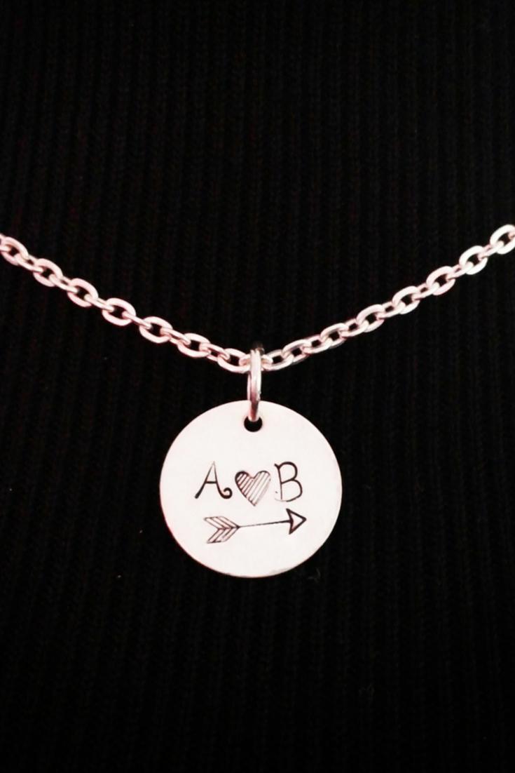 d3edb2450d Couple Necklace / Love Necklace / Boyfriend Necklace / Couples Initial