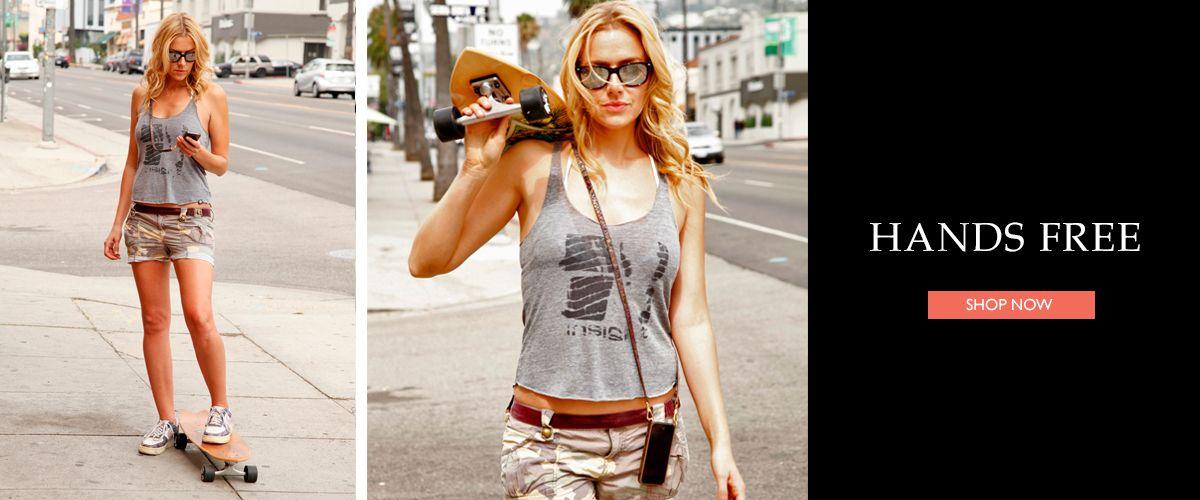 Bandolier hands free crossbody iPhone part purse d19fce9989d7