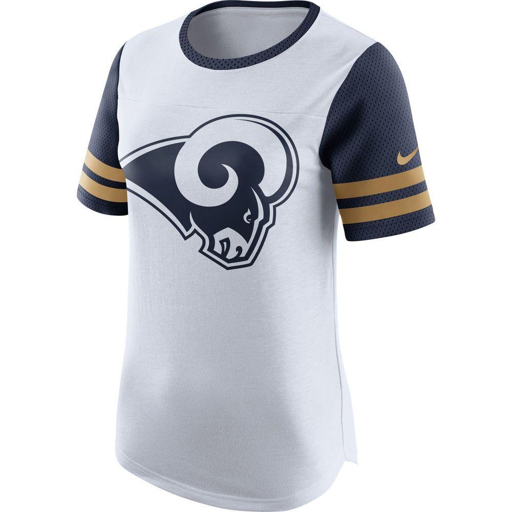 Women s Nike White Los Angeles Rams Gear Up Modern Fan Performance T-Shirt 735f5122f12e