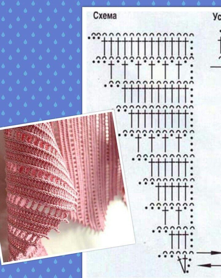 Chart for inspiration scarf | crochet beauty | Pinterest | Chal ...