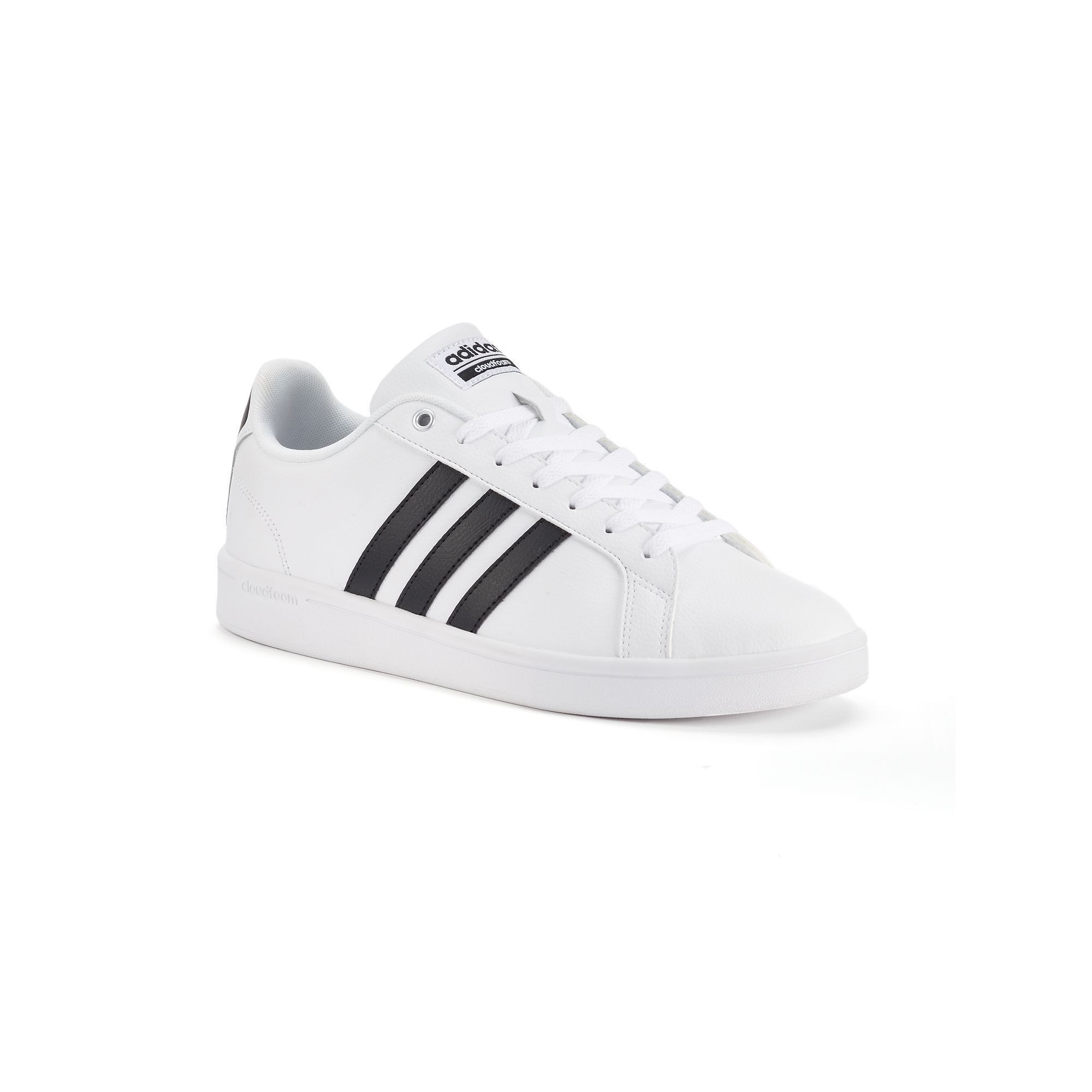 Adidas NEO Cloudfoam Advantage Stripe Men's Shoes, Size: 10.5, White