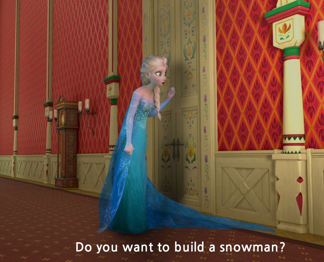 Elsa in Do You Want to Build a Snowmen or ride our bike around the ...