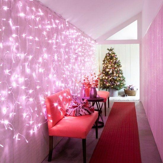 Flur Diele Wohnideen Möbel Dekoration Decoration Living Idea Interiors Home  Corridor   Pink Christmas Flur