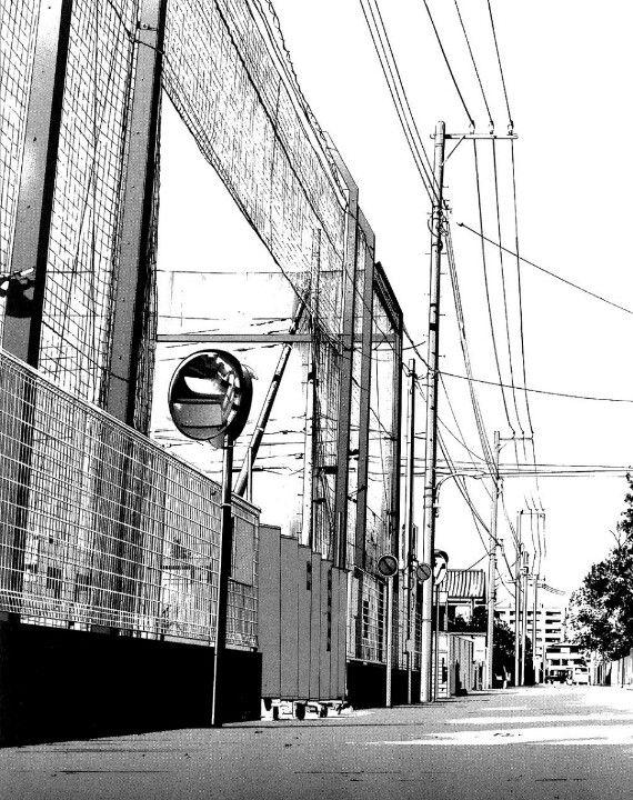 Manga Landscape Anime background, Urban landscape
