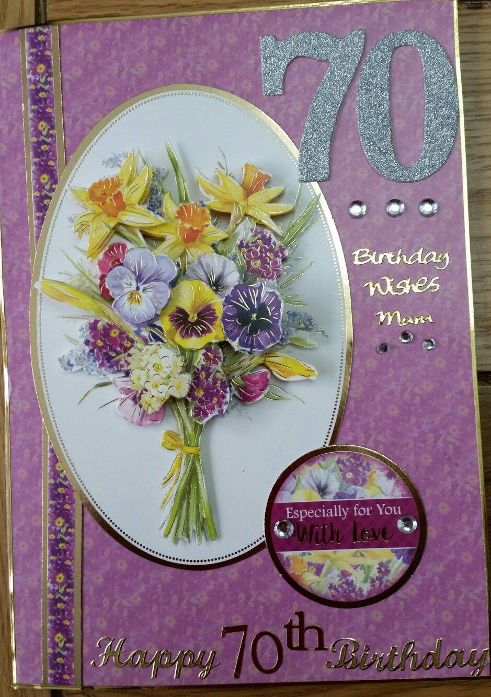 Mum S 70th Birthday Card 70th Birthday Card Birthday Cards Cards Handmade
