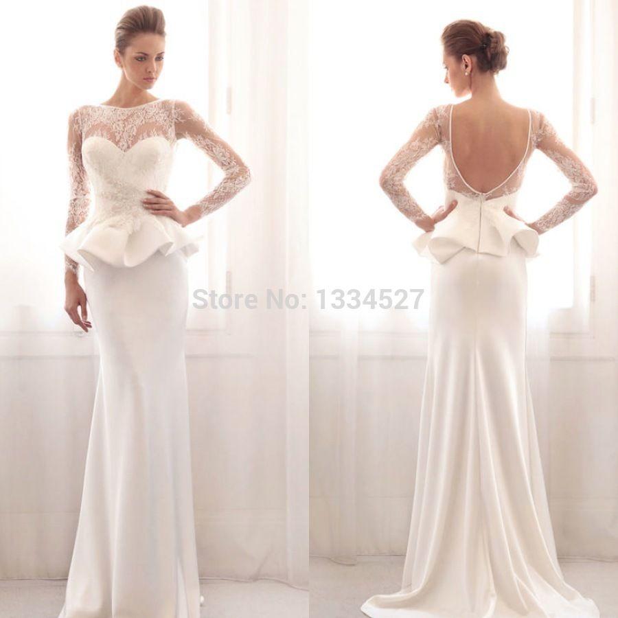 Long dress styles peplum wedding dress pinterest sexy lace