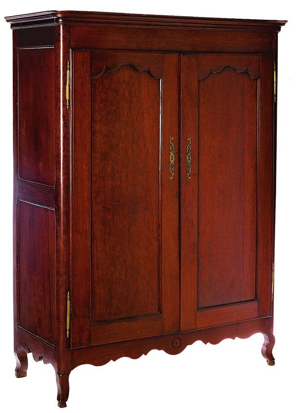 Exceptionnel Louisiana Armoire. Santo Dominguan Mahogany.On Cabriole Legs. Circa 1790.