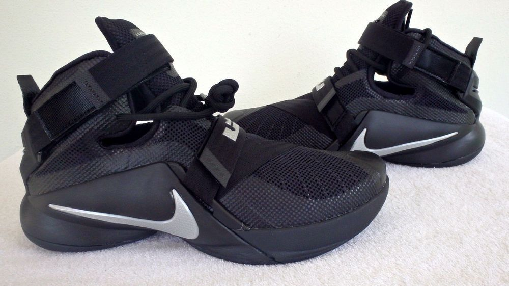 cfc1c18759c9e Nike Lebron Zoom IX Soldier 9 Mens Black Metallic Silver 749417-001 SZ 9.5  New