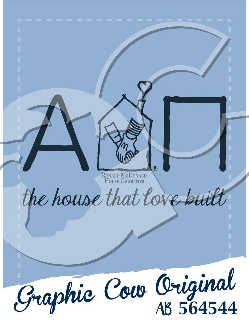 Alpha Delta Pi the house that love built Ronald McDonald