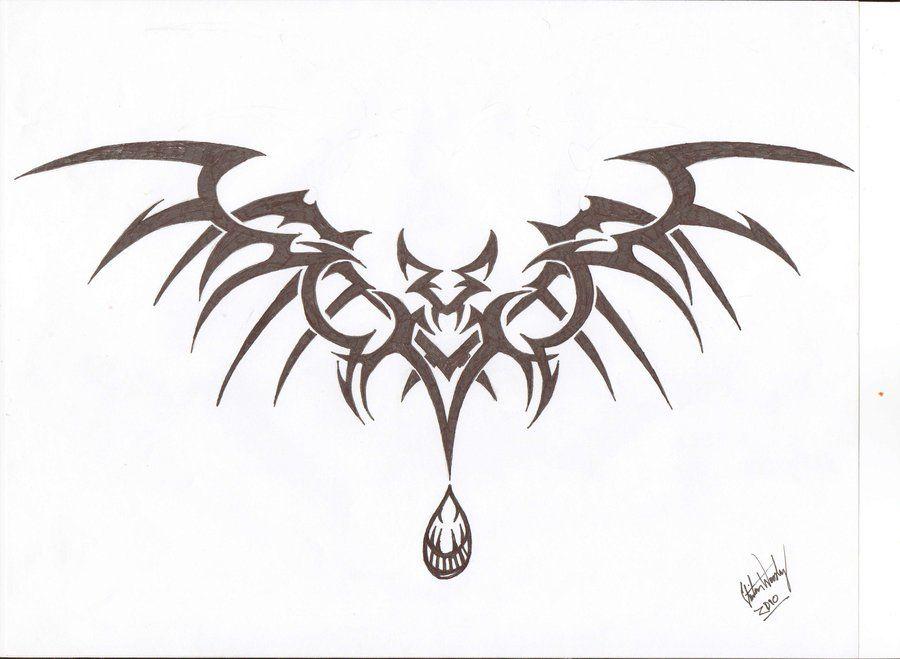 Tribal Vampire Bat Take Three Vampire Tattoo Designs Bats Tattoo Design Vampire Tattoo
