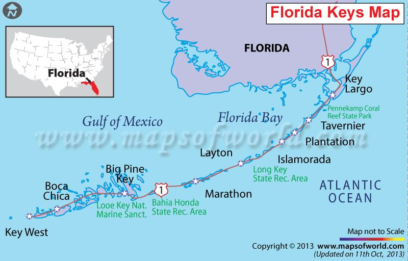 key largo key west florida map