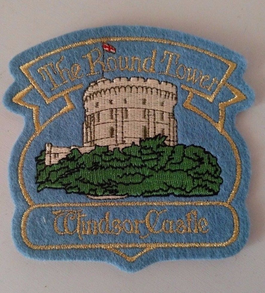 The Round Tower Windsor Castle Patch Sew On Travel Souvenir Collectible  #Unbranded