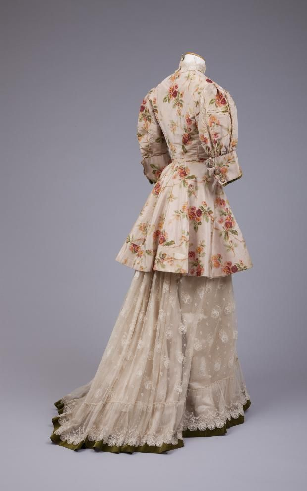 Dress ca. 1890-95. From the Goldstein Museum of Design.