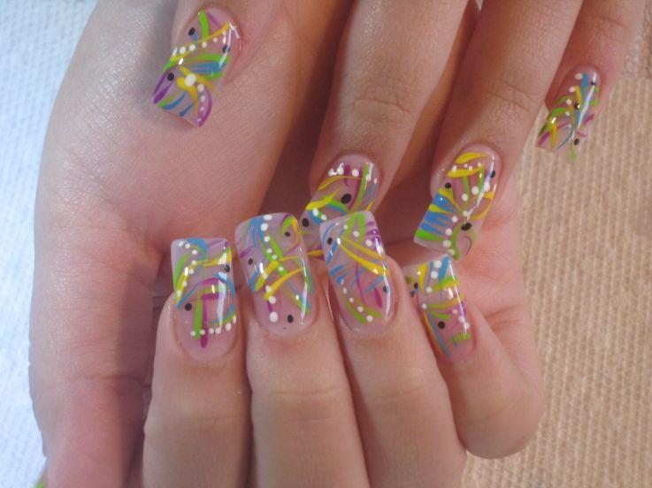 Crazy Nail Art Designs Rainbow Wild Nail Art Design Nails