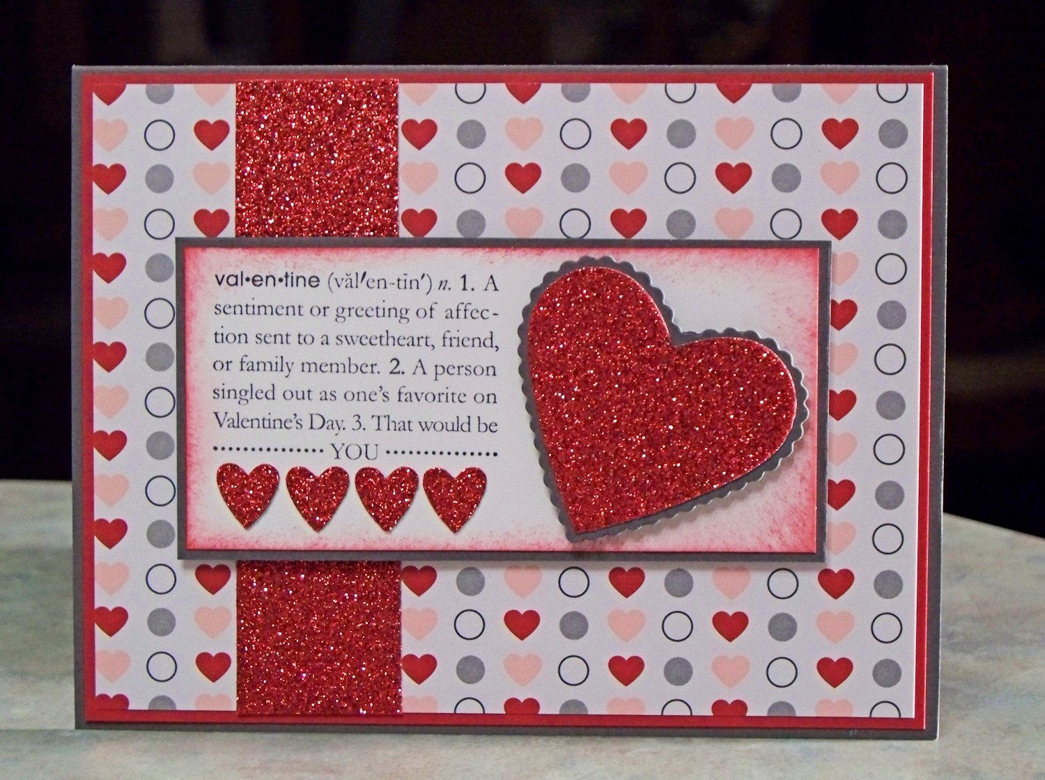 Handmade Valentines Day Card using Stampin Up Scallop Heart – Homemade Valentine Card